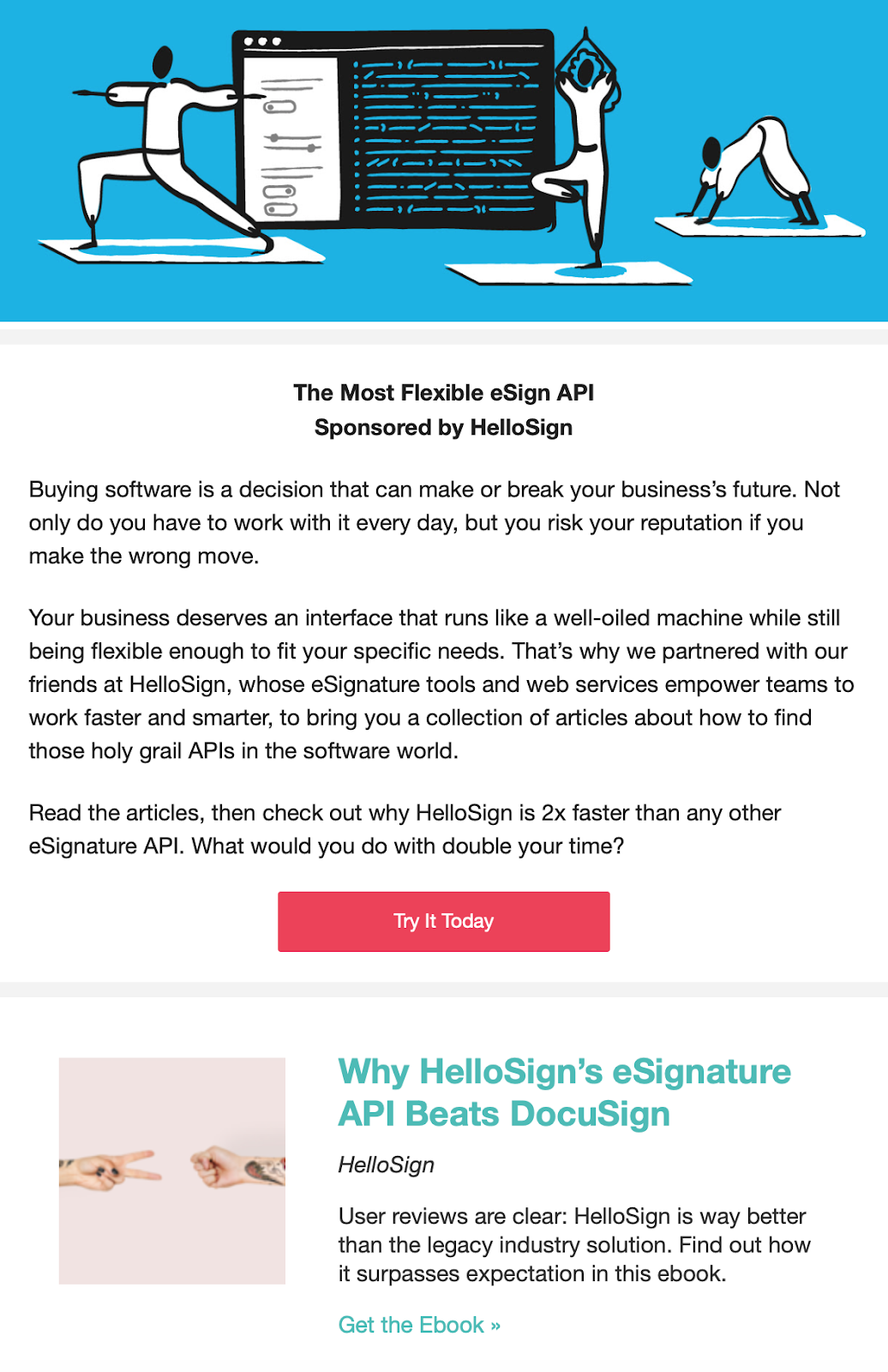 hello sign using the pocket hits newsletter