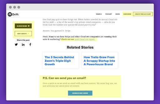drift how to syndicate your content