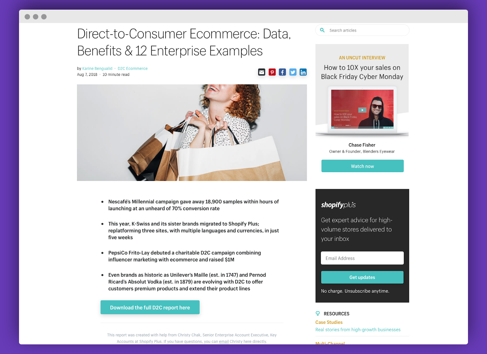 shopify content syndication