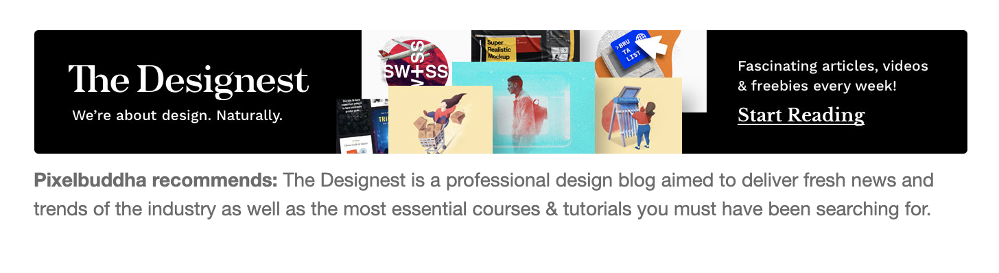 The Designest ad example