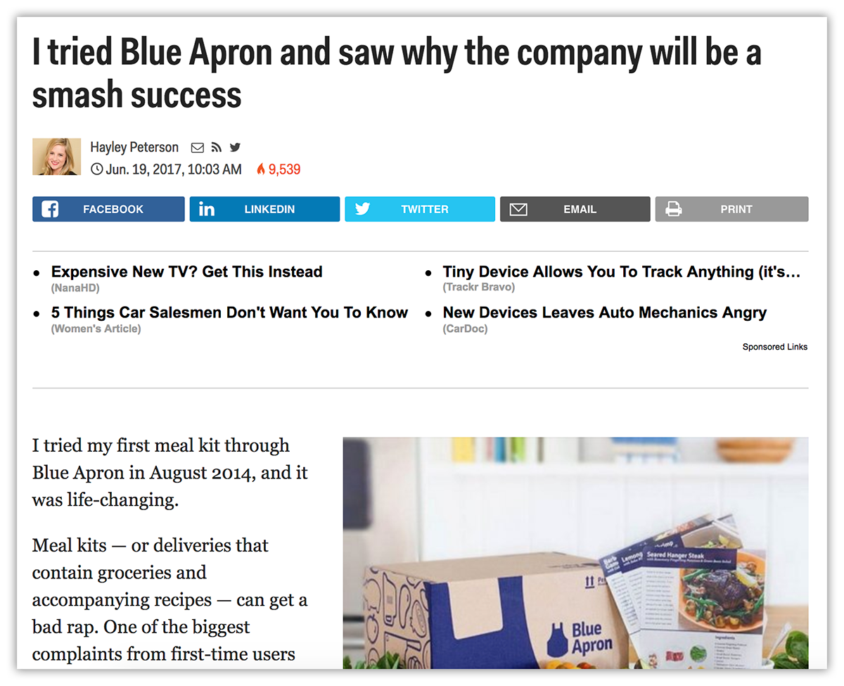 blue apron example