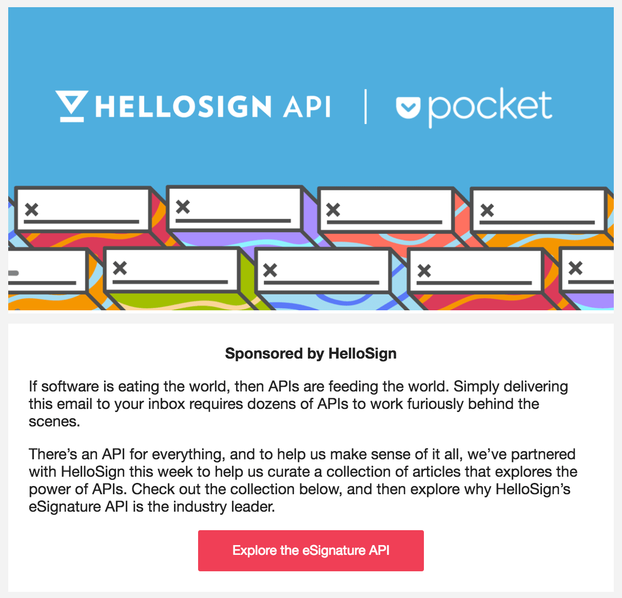 HelloSign sponsors the Pocket Hits newsletter
