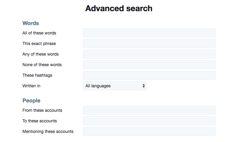 Twitter advanced search helps demand gen marketers find specific tweets.